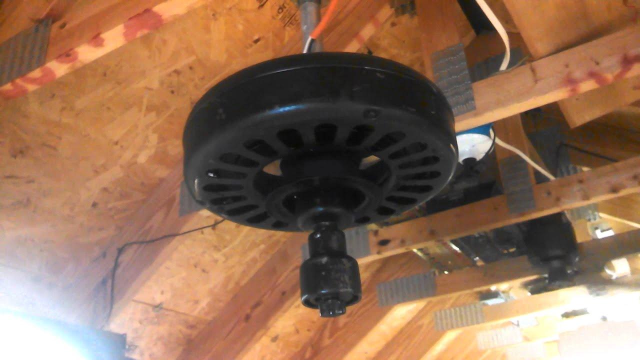 Antique general electric ge ceiling fan motor youtube for General electric fan motor