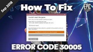 "Fix Fortnite Error Code 30005 "" Createservice failed 1072"""