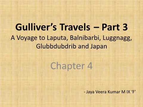 Gulliver's travels Part-3 Voyage to Laputa..................