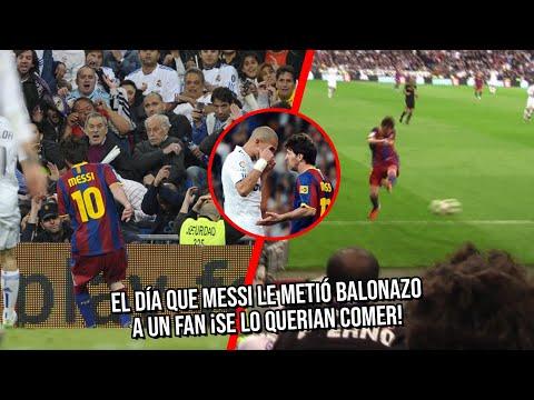 Anecdotario: El día que Messi metió balonazo a fan del Madrid en pleno partido ¡Se lo querían comer!