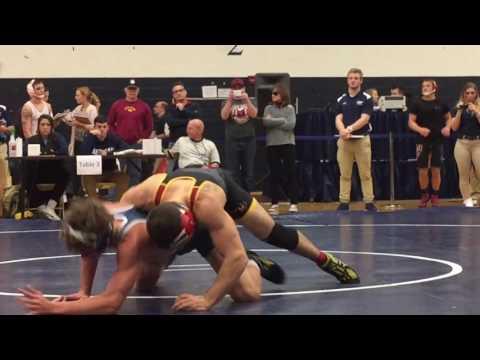 Trent Johnson (Messiah College) vs. Alex Cramer (Ursinus) 149lbs. at the Messiah Open 11/5/16