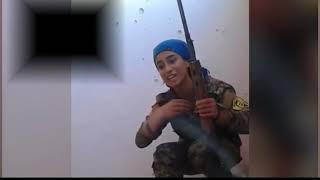На волосок от смерти была курдская девушка снайпер