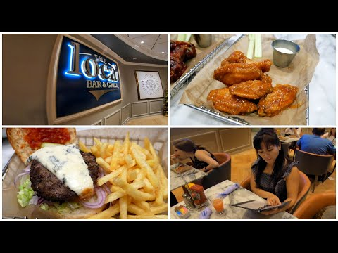 NCL Food & Drinks Menus @ The Local Bar & Grill 24 Hour Restaurant On Norwegian Joy (4K)