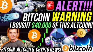 I BOUGHT $40K OF THIS ALTCOIN!!