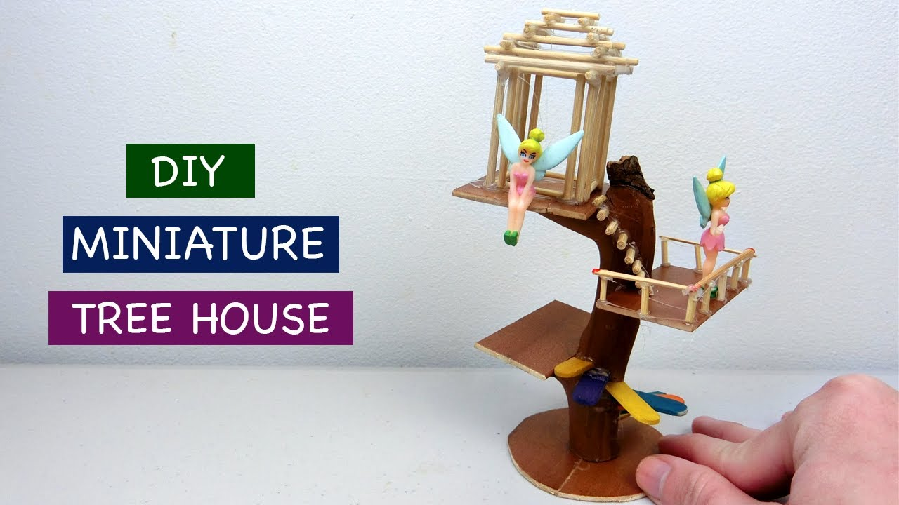 Diy Miniature Tree House For Fairy Garden 2 Easy Craft Ideas