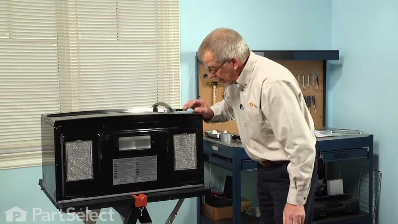 Microwave Repair  Replacing the Grease Filter GE Part
