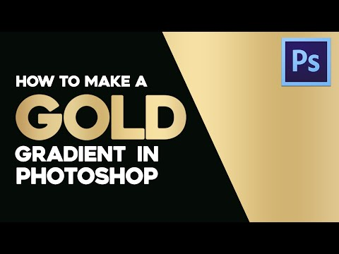 How To Make A Smooth Gold Gradient In Adobe Photoshop By Gdb Youtube