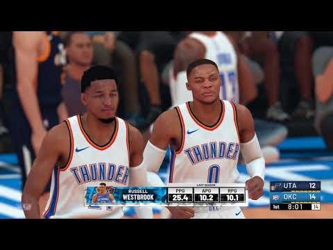 NBA 2K19 - Utah Jazz vs Oklahoma City Thunder - YouTube 575ba7a48
