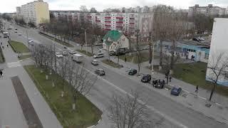 Общежитие на ул.Заслонова в Солигорске. Аэросъемка-2