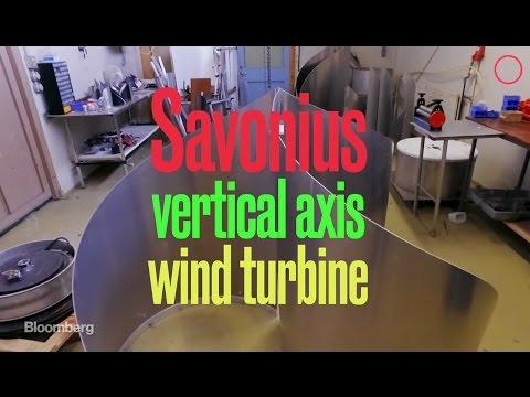 Savonius, vertical axis wind turbine by ICEWIND of Reykjavík, Iceland.