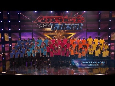 How Far I'll Go-Voices Of Hope Children's Choir Get GOLDEN BUZZER From Ken Jeong