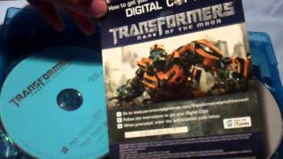 Transformers Dark of the Moon Blu Ray Unboxing (HD)