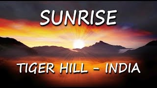 Sunrise and kanchenjunga incredible Video,tiger hill,Darjeeling-India