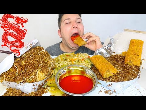 Huge Chinese Food Takeout Feast • MUKBANG
