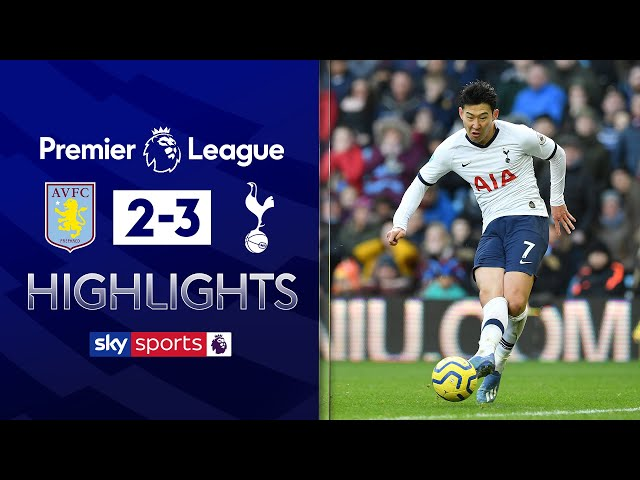 Son rescues Spurs with dramatic last-minute goal! | Aston Villa 2-3 Tottenham | EPL Highlights