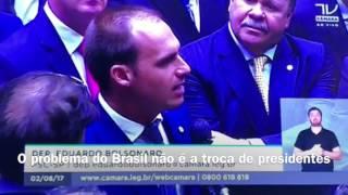 Voto de Eduardo Bolsonaro no caso Temer
