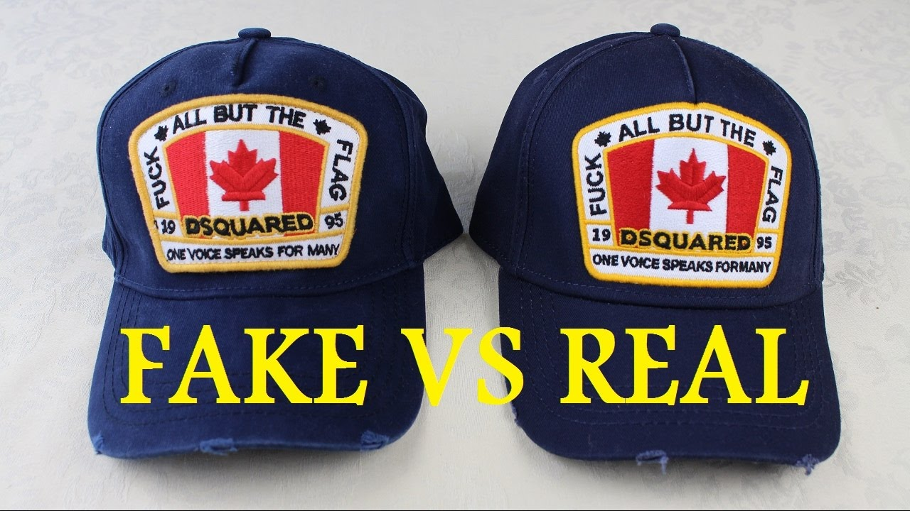 f9a57d7b98ff How To Spot a Fake Dsquared2 Hat   Real vs Fake Dsquared2 Cap - YouTube