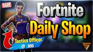 Fortnite Daily Shop *RARE* TACTICS OFFICER SKIN (7 December 2018)
