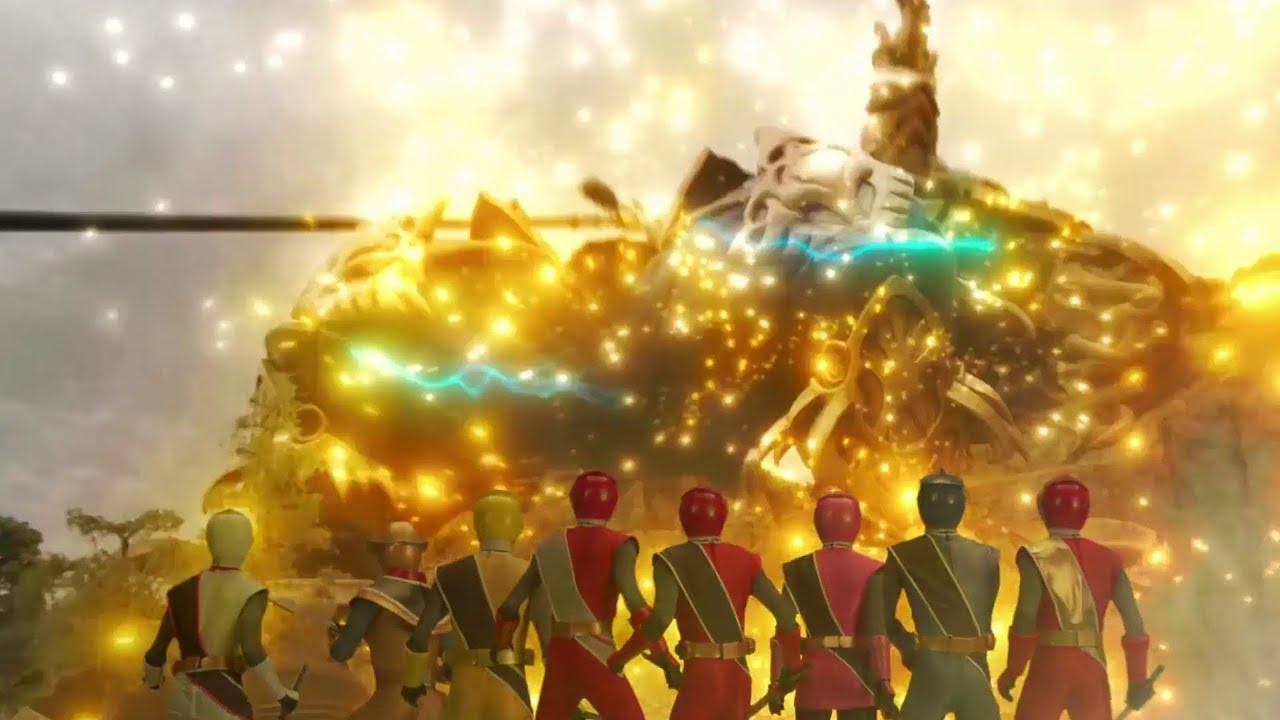 Power Ranger Ninja Steel Batalla Final Galvanax Es Destruido