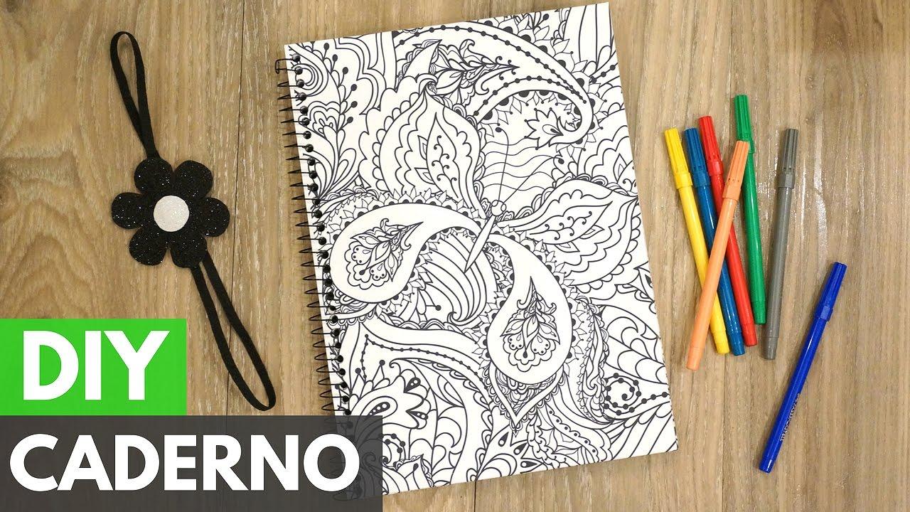 Caderno Customizado Para Colorir Papelemtudo Diy Faca Voce