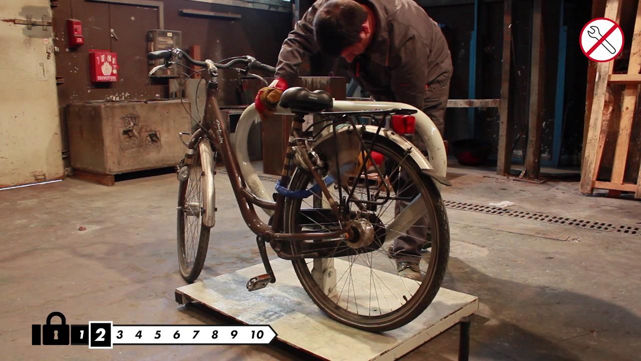 B Secure Bike Lock Test Cnpp B Twin Youtube