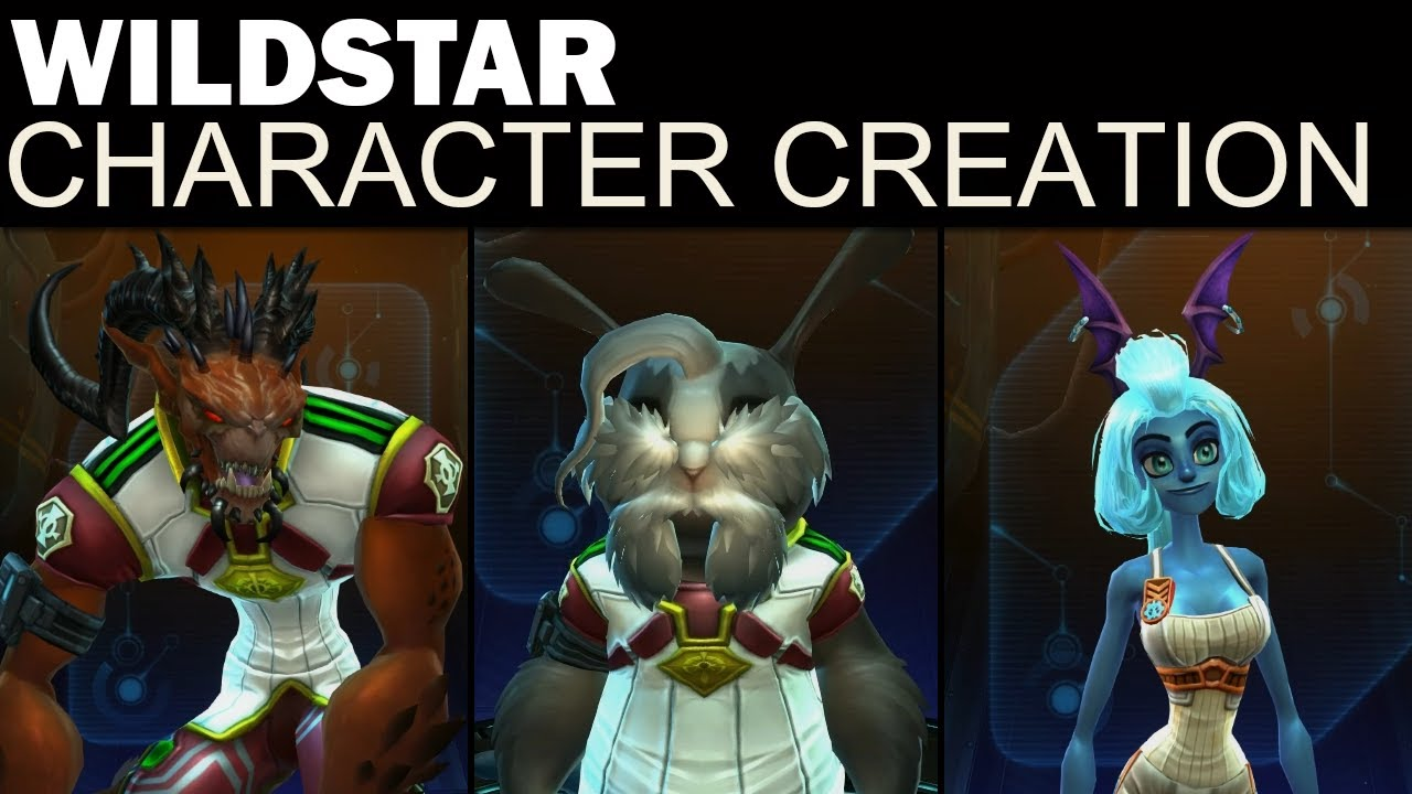 WildStar - Full Character Creation (Male & Female, Both ...