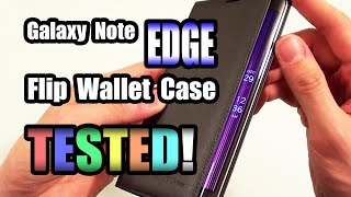 Galaxy Note Edge Flip Wallet Case TESTED!