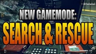 SEARCH AND RESCUE GAMEPLAY - New Gamemode in Call of Duty Ghosts (Online Multiplayer HD Game Type)