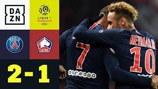 Kylian Mbappe und Neymar treffen zur Nummer 12: PSG - OSC Lille  2:1| Ligue 1 | DAZN Highlights