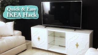 How To Customize Your IKEA TV Console Doors