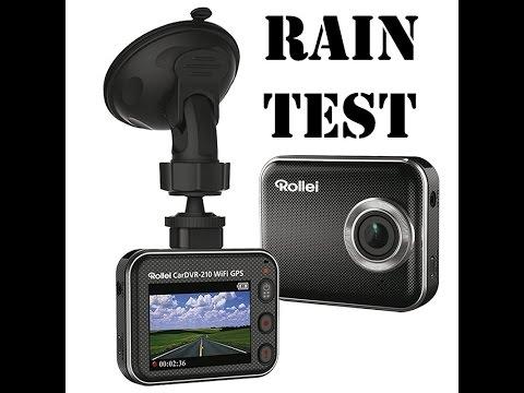 CarDVR-210 WiFi GPS test on rain