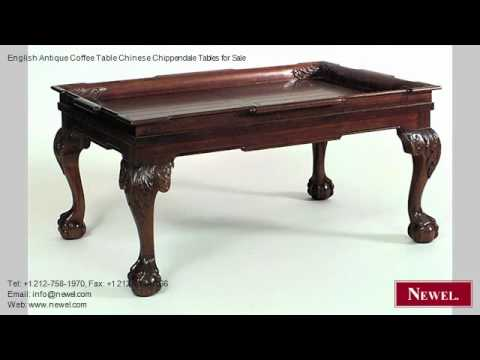 English Antique Coffee Table Chinese Chippendale Tables   YouTube