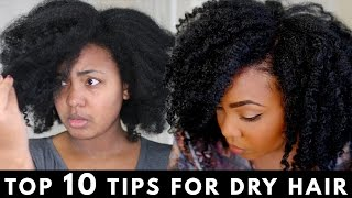 My Top 10 Tips on How to Moisturize Dry Hair during the Winter | Natural Hair