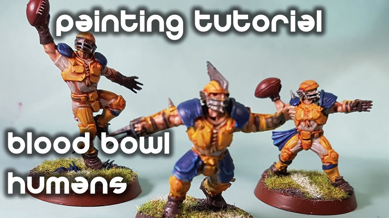 How To Paint Bloodbowl Humans Yellow And Blue Scheme