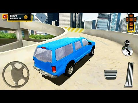 4x4 SUV Driving On The Multilevel Car Parking - Android Gameplay FHD