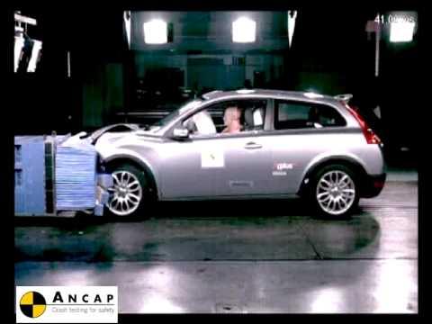 Volvo C30 2007 ANCAP Crash Test (5 stars) - YouTube