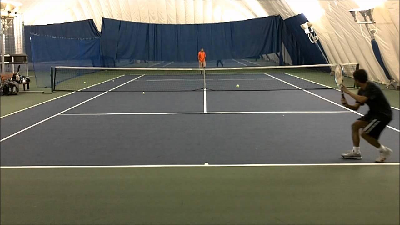 amateur tennis singles match - youtube