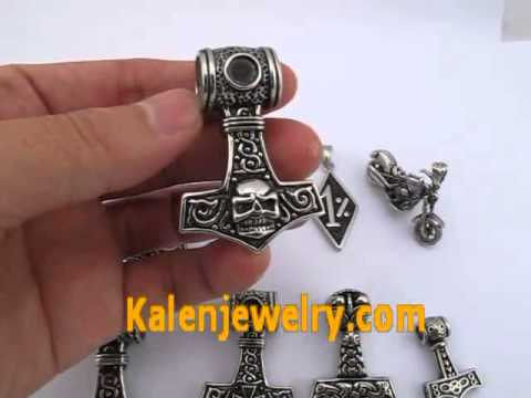 2014 New 316 Stainless Steel Thor Hammer Pendants from Kalenjewelry com