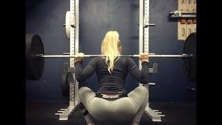 Спортивные девушки/sports girls. Сандуленко Оксана. Присед 115 кг. на 2 повтора