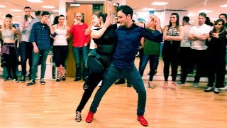 Bachata Sensual Demo by Miro & Petya. (Bachata Spice at Flow Dance London)