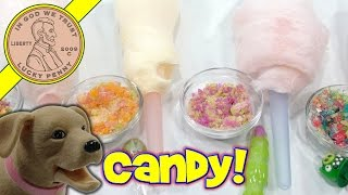 Halloween Cotton Candy - Angry Birds Finger Pops & Glee Gum Pops