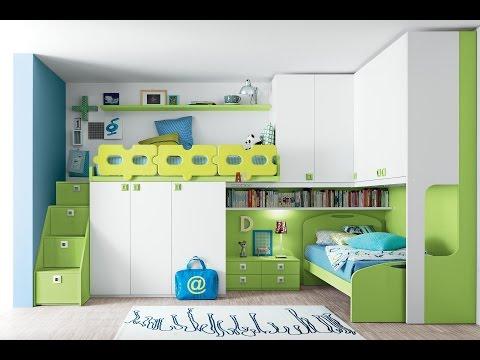 Оригинальные интерьеры детской комнаты для двоих детей