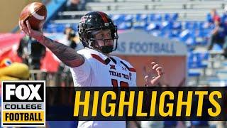 Texas Tech vs Kansas | Highlights | FOX COLLEGE FOOTBALL