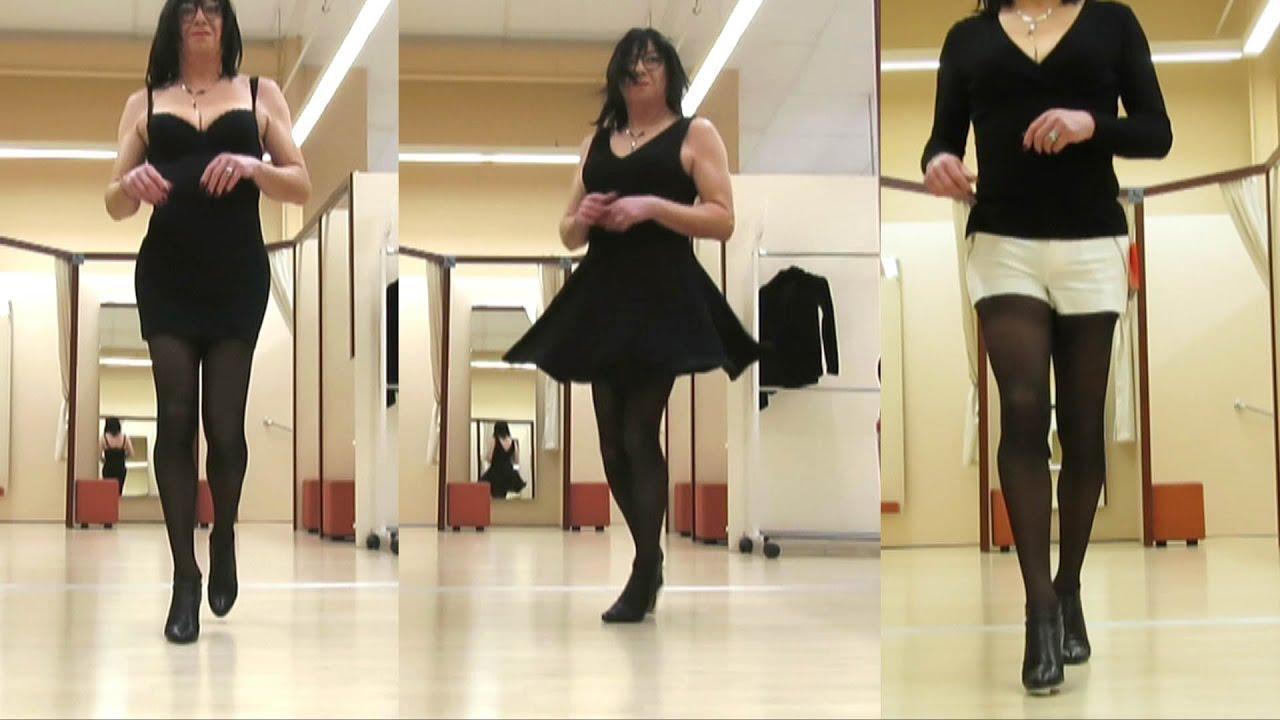 Shopping en short - Transvestite - Crossdresser