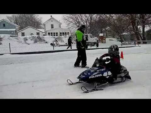COPENHAGEN NY SNOWMOBILE DRAG RACING