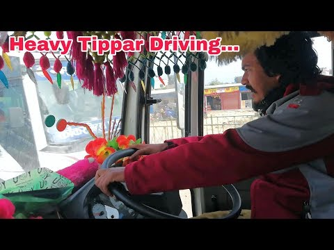HEAVY TIPPAR TEST DRIVING || YOU MUST HAVE A BRAVE HEART TO BE A DRIVER