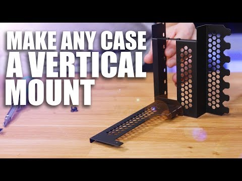 How to mount your GPU Vertically WITHOUT affecting cooling!