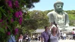 Япония. Храмы Камакуры. Дайбуцу - Великий Будда в храме Котоку.(Знаменитая достопримечательность - гигантская (вторая по величине в Японии - 11,4 м) бронзовая статуя Дайбуцу..., 2015-06-22T07:17:05.000Z)