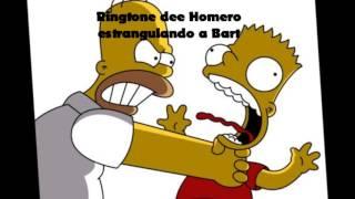 Homero estrangulando a Bart