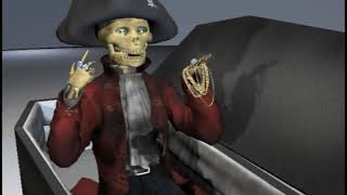 Pirate Pete - A Pirate's Life Song - Skeleton Dance!  KIDS MUSIC VIDEO -  Animatronic - Halloween